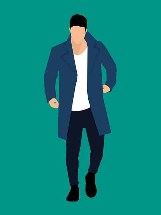 ジャケットとTシャツ