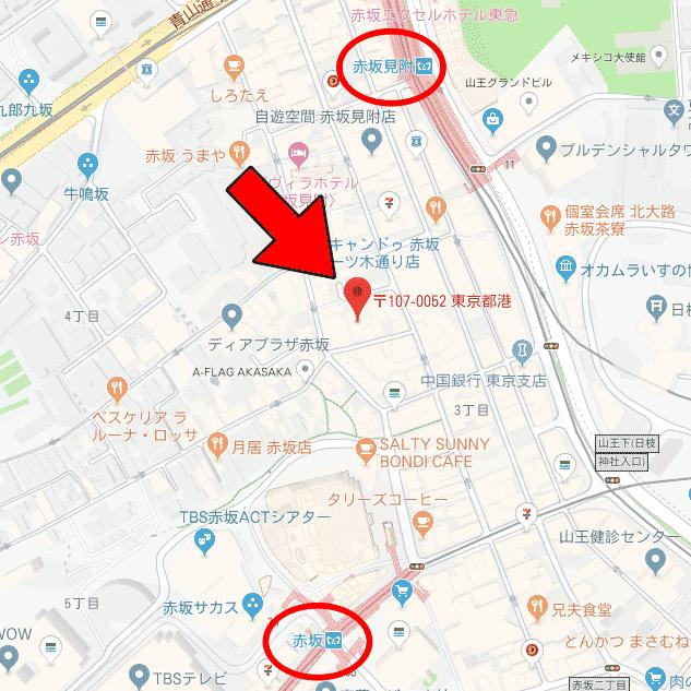 赤坂周辺図