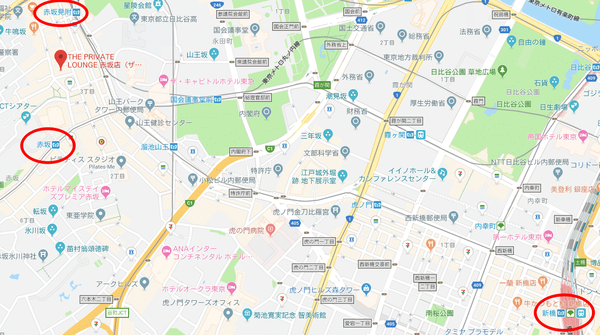赤坂新橋関係図